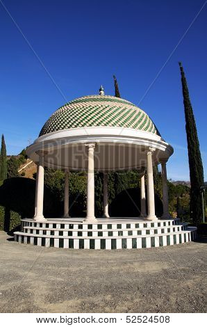Gazebo in park, Malaga, Spain.