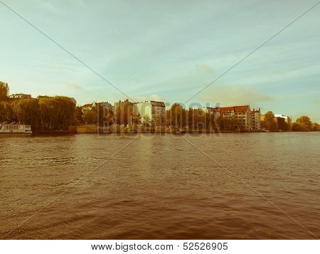 Retro Looking River Spree, Berlin