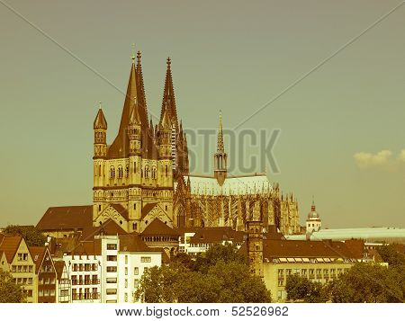 Retro Looking Koeln Panorama