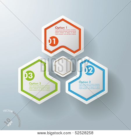 Three Hexagons With Hexagon Centre