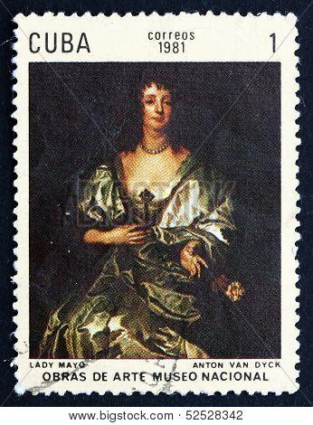 Postage Stamp Cuba 1981 Lady Mayo, By Anton Van Dyck