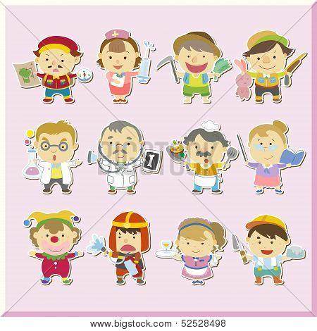 Illustration Of Jobs Of The World