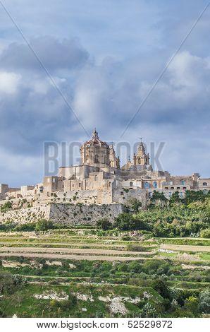 Saint Paul's Cathedral In Mdina, Malta