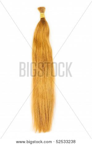Yellow blond hair extensions