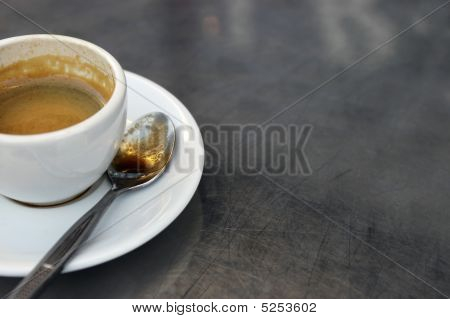 Espresso Cup On Table