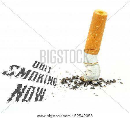 Quit smoking now .