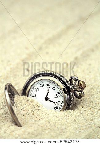 Antique pocket watch buried.