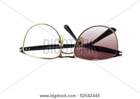 Fractured Plastic Sun glasses