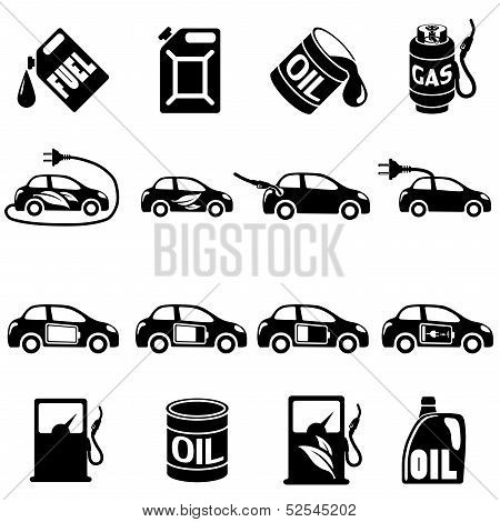 Set of Different Fuel Vector icons