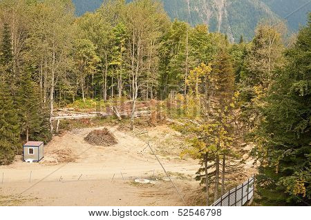 Road On The Slope Of Mountain. Caucasus