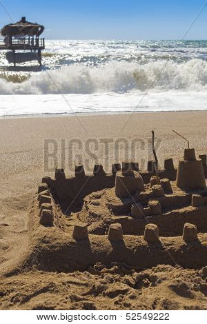 Sandcastle And Bungalow