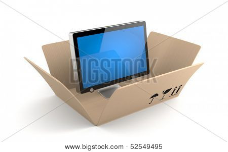 Computer Monitor or TV with reflection