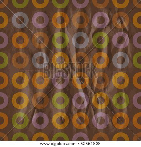 Seamless retro brown pattern with torus. Eps10