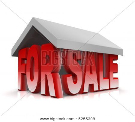 Property And House For Sale Concept 3D Illustration