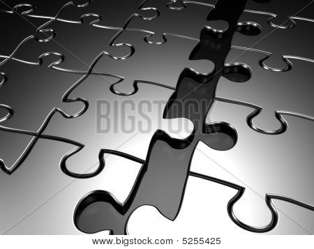 Joining Jigsaw Puzzle Business Concept