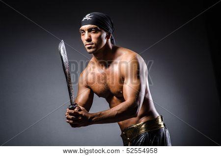 Ripper pirate in the dark room