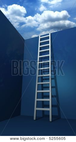 Staircase To Freedom Concept