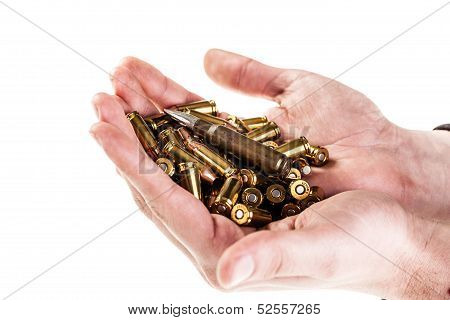 Hands Full Of Ammo