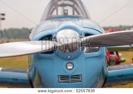 Front Of An Airplane Propeller