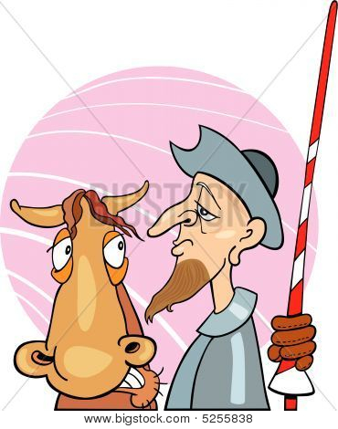 Don Quixote And Horse