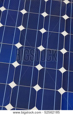 Solar cell battery panel detail and close-up