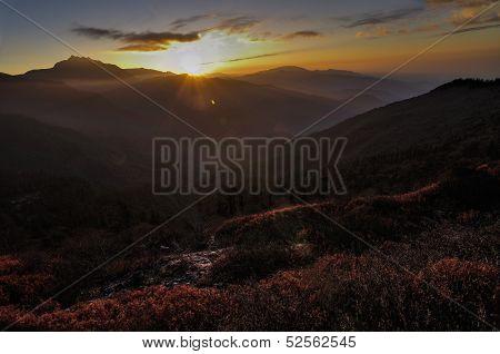 Sunrise Over Valley