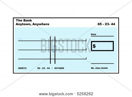 Blank American Cheque