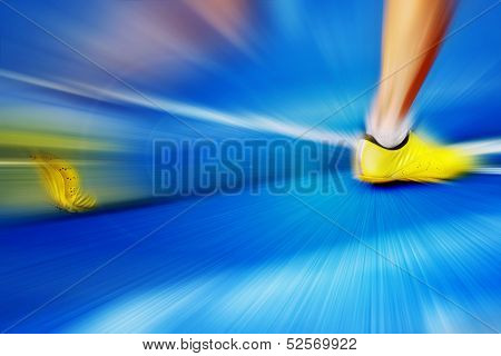 Sprinting Start Zoom