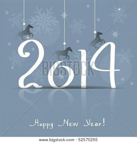 Vector 2014 Happy New Year Greeting Card