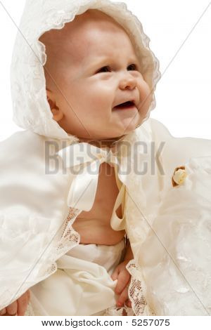 Baby In Baptismal Clothes