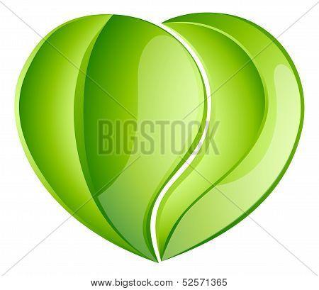 Environmental Charity Love Leaf Heart