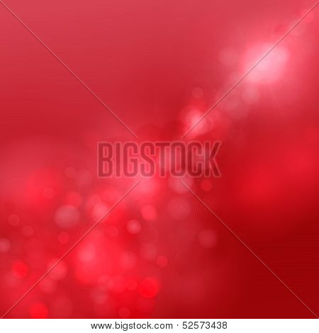 Festive Christmas Elegant Abstract Background With Bokeh Lights