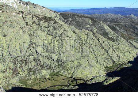 Snow gredos mountains in avila Spain