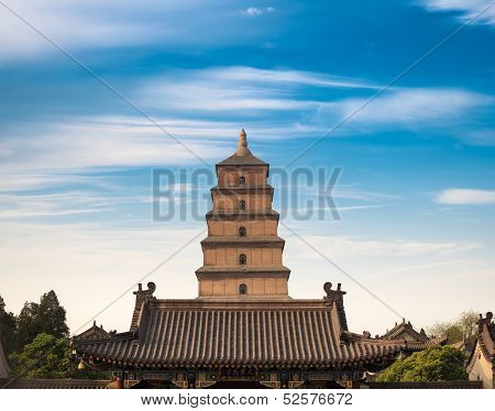 Giant Wild Goose Pagoda In Sian