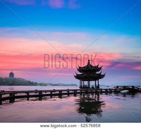 Beautiful Hangzhou In Sunset