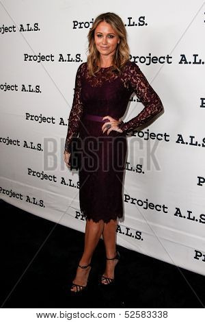 NEW YORK- OCT 17: Actress Christine Taylor attends the Project A.L.S. 15th Anniversary benefit at Roseland Ballroom on October 17, 2013 in New York City.