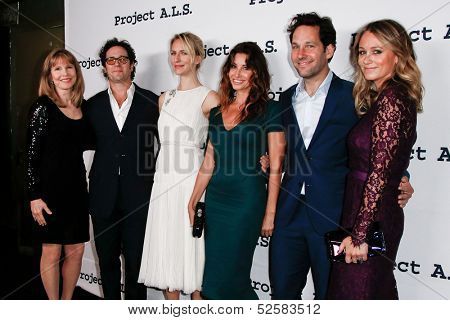 NEW YORK- OCT 17: Actor Paul Rudd (second right) attends the Project A.L.S. 15th Anniversary benefit at Roseland Ballroom on October 17, 2013 in New York City.