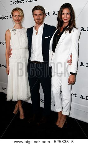 NEW YORK- OCT 17: Actors Mickey Sumner, Dave Annable & Odette Annable attend the Project A.L.S. 15th Anniversary benefit at Roseland Ballroom on October 17, 2013 in New York City.