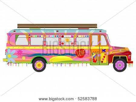Colorful Hippie Bus