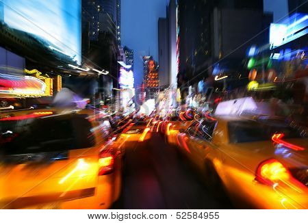 Illumination And Night Lights Of New York City