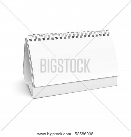 Blank paper desk spiral calendar.