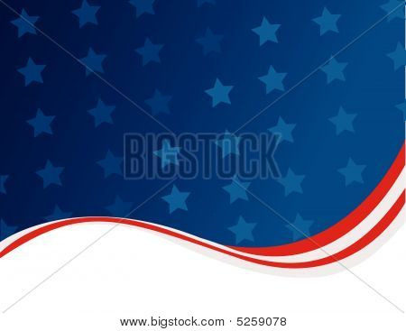 American Flag Background Abstract Design