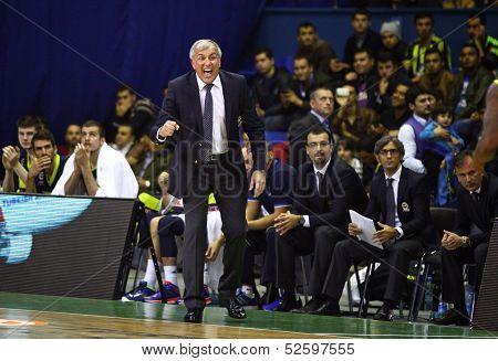 Head Coach Zeljko Obradovic Of Fenerbahce Ulker