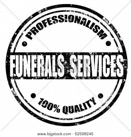 Funerals Services-stamp