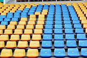 image of grandstand  - Seat grandstand in an empty stadium   - JPG