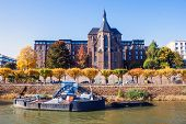 foto of bonnes  - Buildings next to river Rhine in Bonn Germany