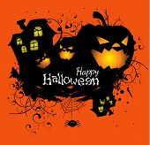 stock photo of happy halloween  - Happy Halloween and halloween party to might - JPG