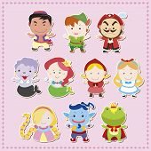 stock photo of aladdin  - cute cartoon story people icons - JPG
