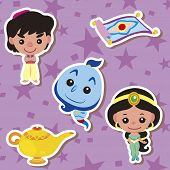 foto of aladdin  - cute cartoon story people icons - JPG