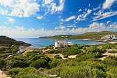 stock photo of promontory  - overview of Caletta bay in San Pietro island Sardinia Italy - JPG